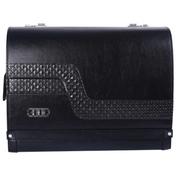 欧斯莱 汽车移动储物箱 带LOGO车标密码箱 车载行李箱 皮革箱子 奥迪车标储物箱