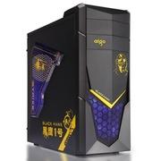 爱国者 黑鹰1号游戏机箱黑色(USB3.0/透明侧板/免工具)
