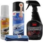 3M 高效万能泡沫清洁剂 汽车内饰清洁 汽车家居真皮座椅 内饰清洁保养4件套