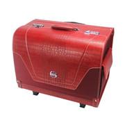 V12 高档皮革车载行李箱 野王系列收纳箱 拉杆带密码锁车用后备整理箱储物箱 红色