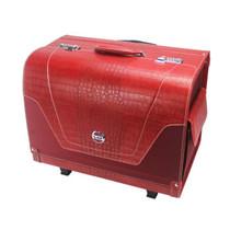 V12 高档皮革车载行李箱 野王系列收纳箱 拉杆带密码锁车用后备整理箱储物箱 红色产品图片主图