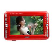 小霸王 视频播放器SU-9999A 9.8英寸高清屏扩音器看戏机唱戏机移动电视DVD影碟机 红色标配+16G戏曲广场卡