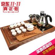 新功(SEKO) 红坚木茶盘功夫茶具套装 电热炉茶具茶盘实木 全自动整套茶具四合一茶具 F66 富贵牡丹