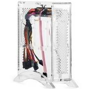 金河田 透明水晶机箱含电源 (无缝对接/强散热/耐腐蚀/不导电/易清洗/内置专用电源)
