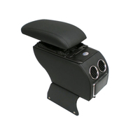 索菲尔 原装汽车扶手箱中央手扶箱免打孔改装专用 新品 时尚黑 夏利N3