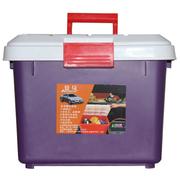 安马 Z400A 汽车后备箱储物箱车用居家收纳置物箱杂物整理箱 紫色