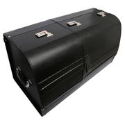 澳雅乐 车载真皮储物箱 拉杆箱 奔驰 奥迪 宝马 保时捷 路虎车载储物箱收纳盒 黑色储物箱数据包SUV