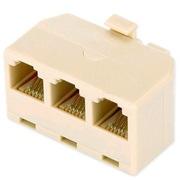 IT-CEO V7D3 电话线一分三转接盒/延长器 1分3 电话分线器/分支器 电话机接口扩展 灰色