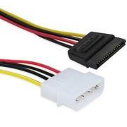 IT-CEO V08SI D型4针转SATA串口硬盘/光驱电源线 转接线 IDE母转SATA母 大4pin转15pin