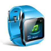 紫光电子 T367 8G 运动跑步手表mp3 8G 腕表式 支持扩卡 蓝牙音箱 无损播放器 蓝色 +赠送充电器
