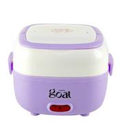哥尔 GO-6815 电饭盒多功能双层不锈钢内胆 插电加热饭盒 紫色电饭盒
