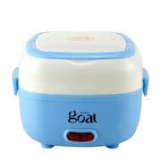 哥尔 GO-6815 电饭盒多功能双层不锈钢内胆 插电加热饭盒 蓝色电饭盒