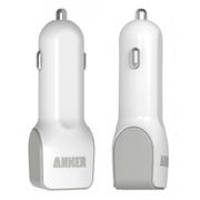 Anker 双接口USB车载充电器 适用于三星iPhone6 Plus万能充 白色