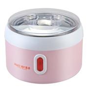 麦卓 Makejoy全自动酸奶机MJ-2118A不锈钢内胆1升 配4个陶瓷分杯 MJ-2118粉色不带分杯