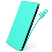 emie 派对 绿  内置充电线 超薄充电宝 10000mAh高效锂离子聚合物电芯 移动电源