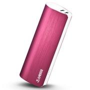 台电 移动电源充电宝 T100J-R 锌合金拉丝外壳 10000毫安 超舒适握感 玫瑰红