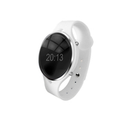 wisebrave 智能蓝牙手环 语音拨号控制手表 免提通话手镯 适用于苹果/三星/小米 白色