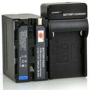 蒂森特 NP-F970/F950/F930一电一充 索尼FDR-AX1E摄影机