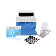 KNC 平板周边存储扩展大礼包,16G三星内存卡 五档支架  电容笔 绒布袋 整套礼包