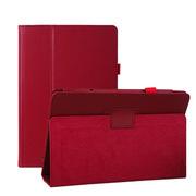 小魔女 荔枝纹商务皮套 适用于华硕T100TA/T100 10.1寸保护套 玫红色