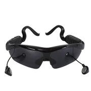 喜越 K1 头戴式立体声耳机迷你智能蓝牙太阳眼镜 黑色