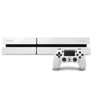 索尼 PlayStation 4 PS4 电脑娱乐机(白色主机+手柄1个+2款免费游戏)