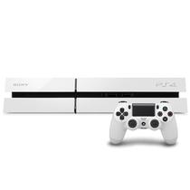 索尼 PlayStation 4 PS4 电脑娱乐机(白色主机+手柄1个+2款免费游戏)产品图片主图