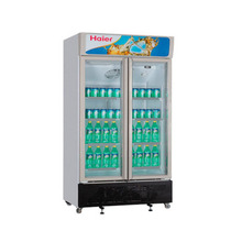 海尔 SC-650G 650升商用展示柜立式风冷冷柜玻璃门双门对开冰柜产品图片主图