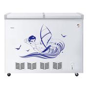 海尔 FCD-238SE 238升蝶形门双温卧式双门冰柜(白色)