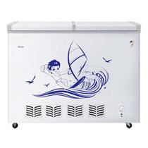 海尔 FCD-238SE 238升蝶形门双温卧式双门冰柜(白色)产品图片主图