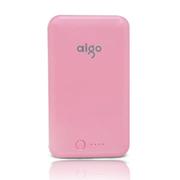 aigo 爱国者电子科技公司出品 E12 12000毫安 安全聚合物 移动电源/充电宝 佳人粉色 官方标配+爱国者A6充电器