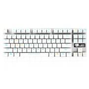 达尔优 机械师合金版 87键背光机械键盘 黑轴版 白银色