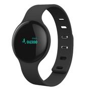 wisebrave H8 智能手环 蓝牙4.0手表睡眠检测情侣运动计步器 适用于苹果/小米 黑色