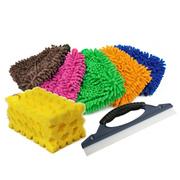 捷尼达 洗车手套 洗车海绵 刮水板 (1*1*1颜色随发) 优惠套装