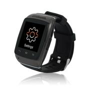 酷道 S12触屏蓝牙智能手表手环腕表计步器智能穿戴免提通话手机伴侣创意配件 黑色