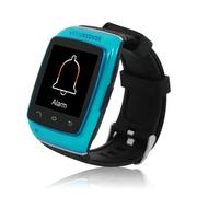 酷道 S12触屏蓝牙智能手表手环腕表计步器智能穿戴免提通话手机伴侣创意配件 蓝色