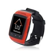 酷道 S12触屏蓝牙智能手表手环腕表计步器智能穿戴免提通话手机伴侣创意配件 红色