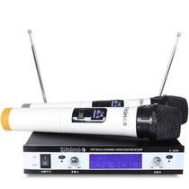 新科 S3200 U段无线麦克风 一拖二双手麦手持话筒 家庭KTV电脑K歌产品图片主图