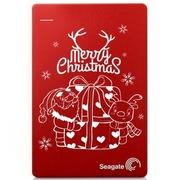 希捷 Backup Plus睿品(升级版)1T 2.5英寸 USB3.0移动硬盘 丝绸红 圣诞礼物限量定制版