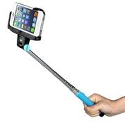 MaxMco 自拍神器 无线蓝牙自拍杆 适用于苹果iPhone/三星等手机 蓝色