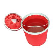 其他 石家垫 洗车折叠水桶 车用车载便携多功能伸缩水桶 红色