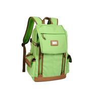 吉尼佛 41154 专业数码单反相机包 防盗摄影包 时尚休闲双肩背包 绿色