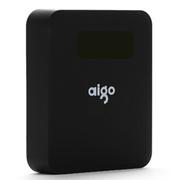aigo 爱国者电子科技公司出品 移动电源 智能电源 充电宝 TN104 10000毫安 黑色 官方标配+L002 1.2米 安卓小面数据