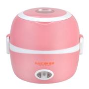 其他 麦卓Makejoy多功能电热饭盒MJ-2014不锈钢内胆热饭蒸饭煮蛋器蒸蛋器 2013A粉色