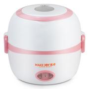 其他 麦卓Makejoy多功能电热饭盒MJ-2014不锈钢内胆热饭蒸饭煮蛋器蒸蛋器 2013A珍珠白