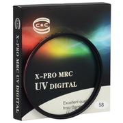C&C X-PRO MRC UV 58mm 专业级超薄多层防水镀膜个性红圈UV滤镜 适用佳能18-55,55-250,尼康50/1.4