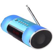 山水 E10便携式音箱 插卡小音箱 迷你音响收音机 mp3播放器外放低音炮 蓝色