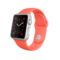 苹果 Apple Watch SPORT 42毫米银色铝金属表壳搭配橙色运动型表带产品图片1