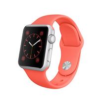 苹果 Apple Watch SPORT 38毫米银色铝金属表壳搭配橙色运动型表带产品图片主图