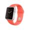 苹果 Apple Watch SPORT 38毫米银色铝金属表壳搭配橙色运动型表带产品图片1
